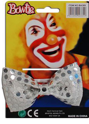Bow-Tie Silver Sequins