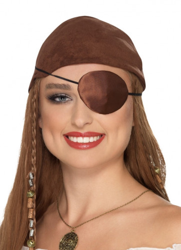 Pirate Eyepatch - Brown Satin
