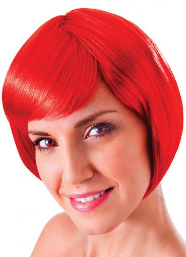 Flirty Flick Red Wig