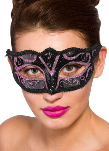 Calypso Eye Mask - Black & Pink
