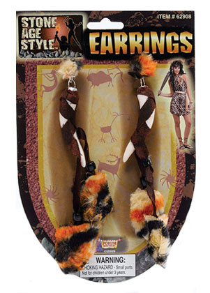 Viking/Cavegirl Earrings