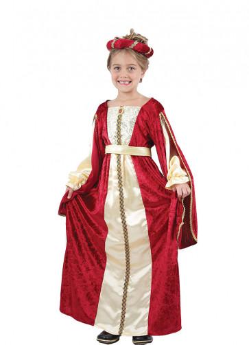 Regal Princess Red (Girls) Costume