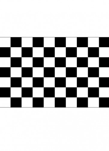 Checkered Black and White Flag - Racing 5ftx3ft