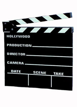 Clapper Board (Hollywood Movies) (30cm x 26.5cm)