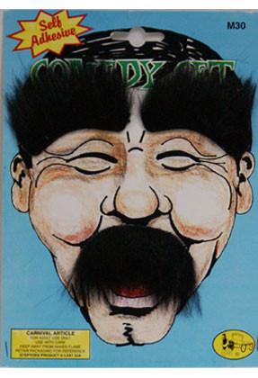 Comedy Moustache & Eyebrows Set (Brown)