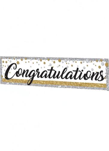 Congratulations Banner 6ft