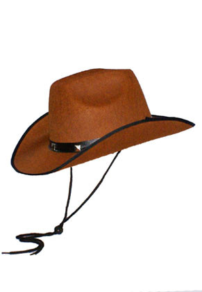 Cowboy Hat Brown Studded