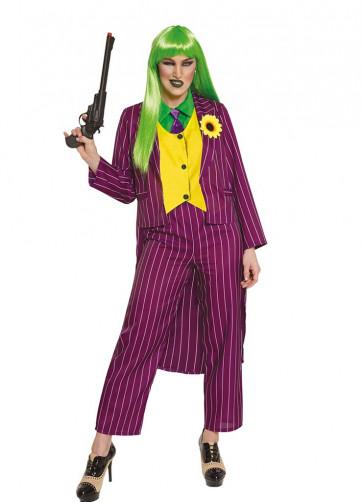 Ladies Stripey Jokester Costume