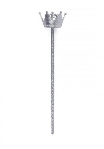 Crown Wand (Silver Glitter)