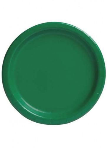 Emerald Green Paper Plates 22cm – 16pk