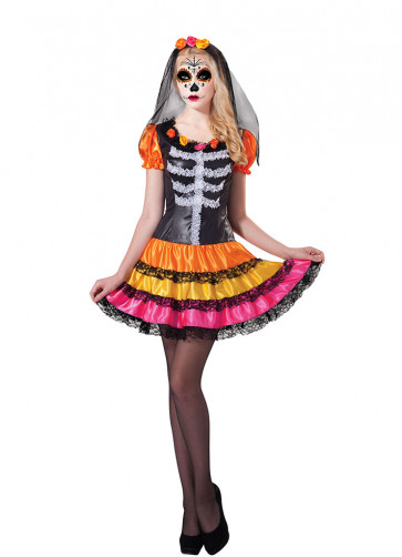 Day of the Dead Lady Rainbow