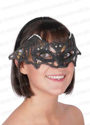 Diamante Bat Eye Mask
