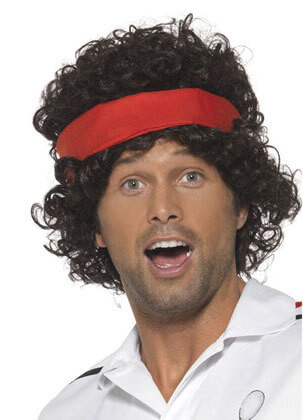 Eighties Tennis Player - John McEnroe - Brown Wig