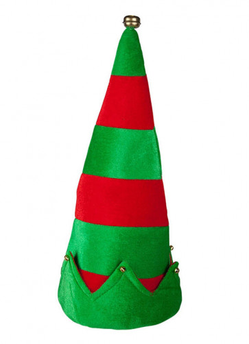 Striped Elf Hat with Bells