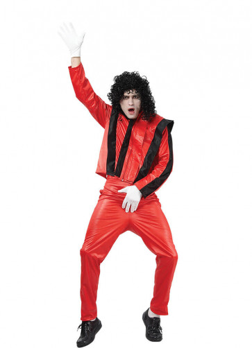 80's Superstar Red - Michael Jackson's Thriller Costume - Mens