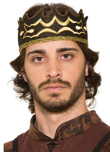 Black Medieval King's Crown (Soft) (Master of Thrones)