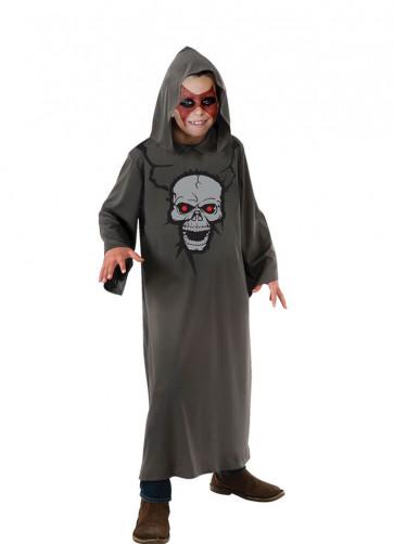 Hooded Skull-Print Robe