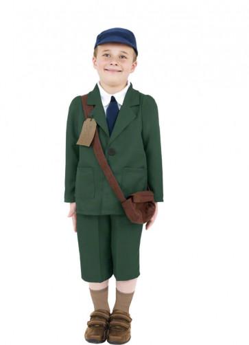 WWII Evacuee Boy - Green - Costume
