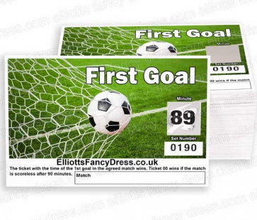 First Goal Football Scratch Cards - Fundraising Tickets 00-90 ------ 1 PACK