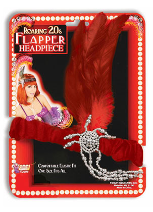 Flapper Headpiece (Red)