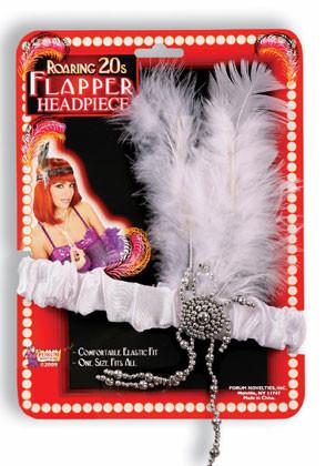 Flapper Headpiece (White)