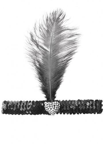 Flapper Headband (Crystal Heart)