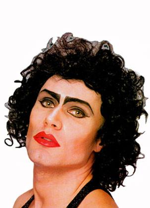 Rocky Horror Show - Frank N Furter Wig - Black Curls