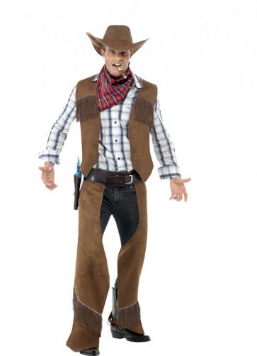 Brown Fringe Cowboy Costume
