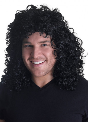 Black 70s Glam Rock Wig - Michael Jackson Thriller