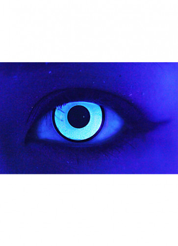 Glass White UV Contact Lenses - One Day Wear