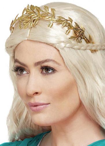 Grecian Leaf Headband, Gold