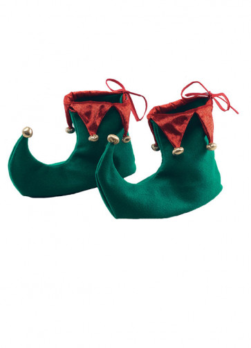 Elf Shoes - Green and Red