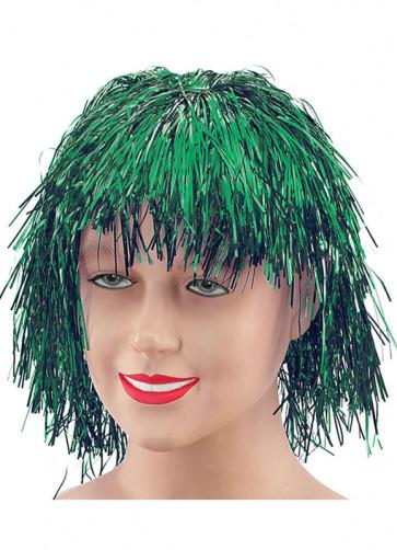 Green Tinsel Wig - Good Coverage