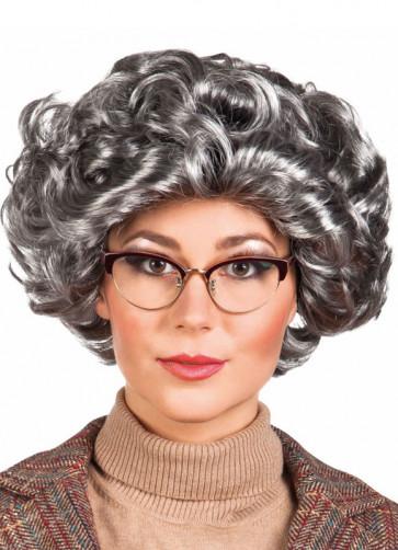 Elizabeth / Granny Wig - Grey Curls