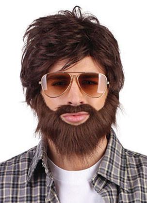 Brown Hangover Wig And Beard