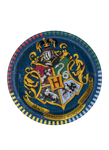 Harry Potter Hogwarts Paper Plates 17cm – 8pk