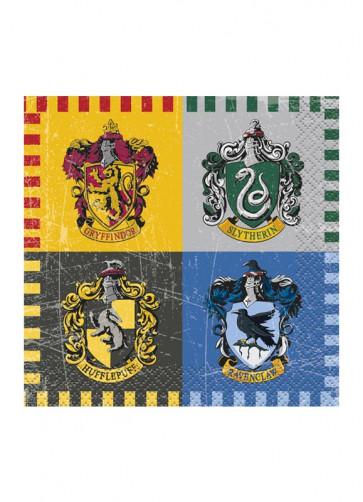 Harry Potter Hogwarts Themed Small Napkins 12.5cm – 16pk