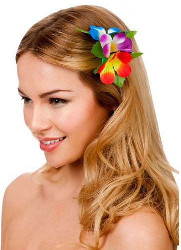 Hawaiian Flower Hair Clip (Multicoloured)