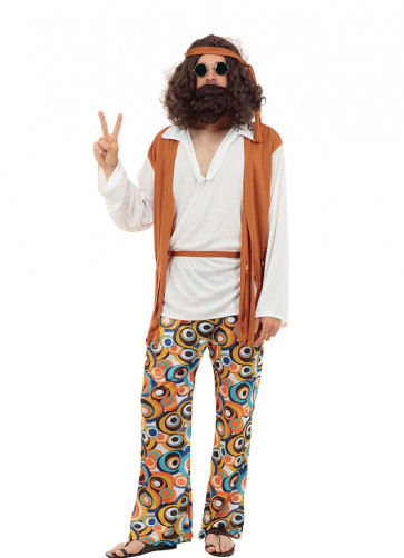 Hippie Brown Vest Costume