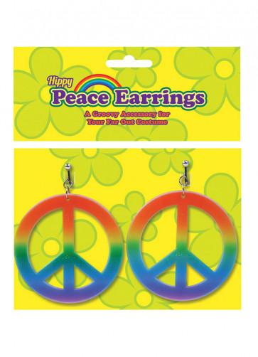 Rainbow Hippy Peace Earrings