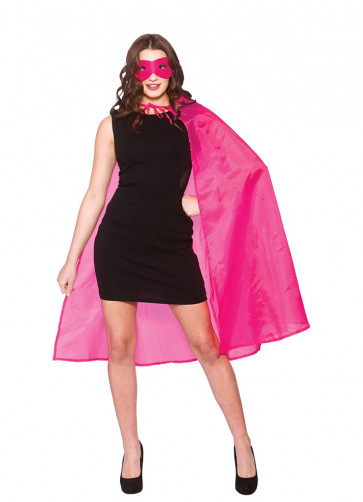 Superhero Cape and Mask - Hot Pink