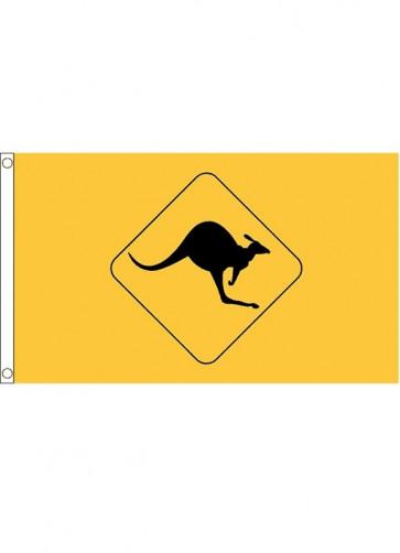 Kangaroo Sign Flag
