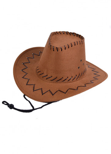 Kids Brown Cowboy Hat (Stitched)