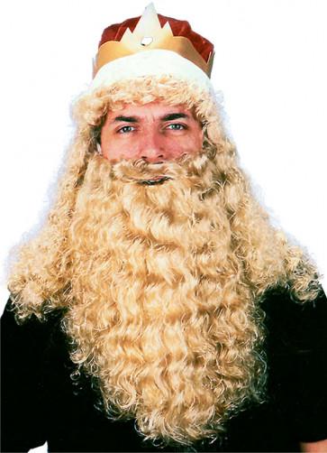 King Wig Beard & Crown