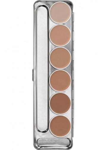 Kryolan Aquacolor Make-up Palette - 6 colours Palette 1W-6W