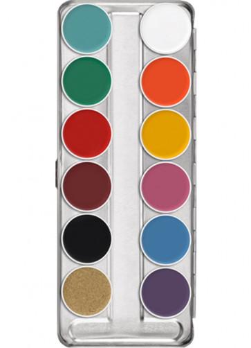 Kryolan Supracolor Palette – 12 FP colours
