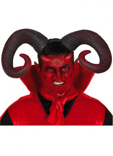Large Ram Horns – Red 20cm