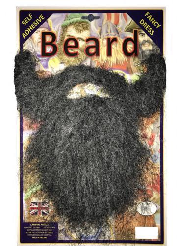 Long Grey & Black Beard
