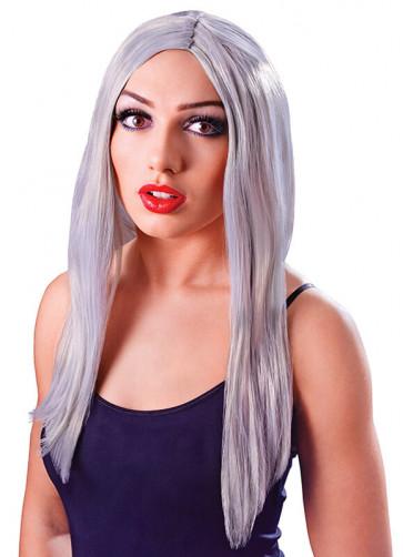 """Long 18"""" Wig Grey"""