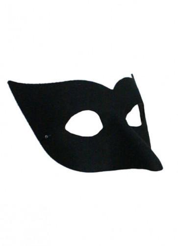 Long Nose Black Half Eye mask